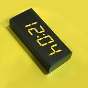 OUMAIG Chameleon Clock Digital Clock Creative Wooden Bedroom Bedside Clock Minimalist Personality,Blackwood