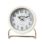 Chickidee Homeware Standing Table Clock, White/Gold