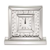 Howard Elliott Collection Glass Crystal Accented Clock, 14cm D x 32cm W x 29cm H