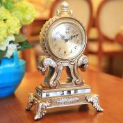 Edge to table Clock Continental Clock Living Room Clock Vintage Creative Clock Bedside Bedroom Antique Clockwork Display