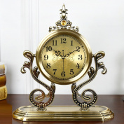 Edge to table Clock European Creative Metal Clock Living Room Pendulum Clock Mute Simple Table Decoration Clock American Clock