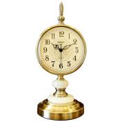 Edge to table Clock European-American Desktop Clock Home Living Room Study Bedroom Mute Desk Clock Ornament Clock