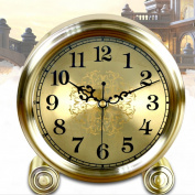 Edge to table Clock Creative Fashion Clock Large Silent Quartz Clock Round Living Room Clock Metal Ornament