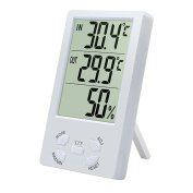 ZTYR Indoor LCD Digital Electronic Thermometer Hygrometer Humidity Metre Alarm Clock Celsius Fahrenheit Temperature Display
