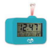 Tinc Light Up Projector Alarm Clock, date, temperature display