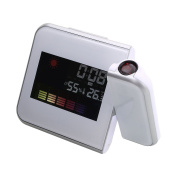 Kicode LCD Display Digital LED Projector Time Projection Table Alarm Clock Weather Station Calendar Snooze Backlight