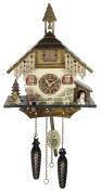 Quartz Cuckoo Clock Black forest house with music, incl. batteries TU 4236 QM