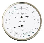 Fischer Sauna Thermohygrometer, Stainless Steel, 30 x 13 x 30 cm