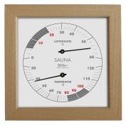 Fischer Sauna Thermohygrometer, Wood, Apachi Wood, 17 x 30 x 17 cm
