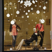 LHWY Christmas Decoration Decal Window Stickers Home Decor New Year Gift