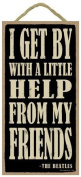 (SJT94151) I get by with a little help from my friends 13cm x 25cm wood sign plaque