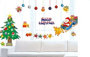 Ruikey Merry Christmas Home Decor Wall Stickers Removable PVC Showcase Window Decor Wallpaper Mural Decal