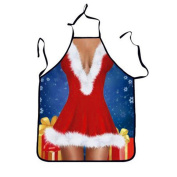Creative Christmas Apron novelty christmas decorations sale clearance Hirolan Unisex Cooking Kitchen Halter Apron christmas gifts for couples for Kitchen Cooks Restaurant Bistro BBQ School College