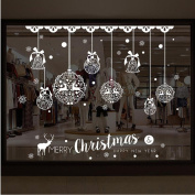 Christmas Wall Sticker, Xinantime Removable Christmas Bells Deer Shop Window Decoration