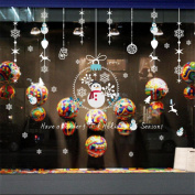 VENMO Christmas Baubles Wall Stickers Vinyl Decals For Livingroom Home Decor Removable Xmas Shop Window Clings Wall Murals