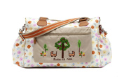 Pink Lining Twins Baby Changing Nappy Bag - Pansies
