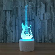 Lh & Fh 3D Colourful Touch Creative Guitar LED Lamp Bluetooth Stereo WIth 5 Colour Change