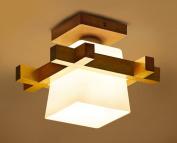 Home mall- Solid Wood Light Ceiling Lamp Modern Fashion Living Room Bedroom Kitchen Corridor Children's Room Light E27