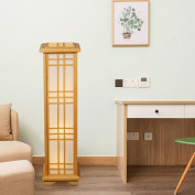 MMM Solid Wood Simple Floor Lamp Bedroom Living Room Light Modern Vertical Study Lighting