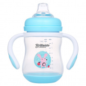 Decdeal Brillante Baby Sippy Cup Trainer Feeding Bottle With Handles & Soft Spout For Toddlers Child Kids BPA Free 240ML