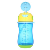 Decdeal Brillante Kids Sippy Cup Trainer Bottle Learner Cup Non-slip With Draw & Detachable Strap BPA Free 350ml