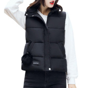 Women Winter Warm Waistcoat Vest Gilet Cotton Jacket Coat Parka Petite Cute Outwear