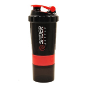 QuiFit Protein Shaker Cup With Storage-Sport Mixer Bottles,5 Colour,500ML