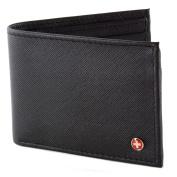 Alpine Swiss Mens Leather Flipout ID Wallet Bifold Trifold Hybrid