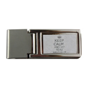 Metal money clip with Handle it BEAU Keep calm