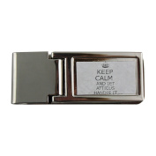 Metal money clip with Handle it ATTICUS Keep calm