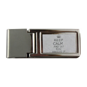 Metal money clip with Handle it ERIC Keep calm