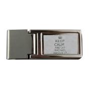 Metal money clip with Handle it RACHAEL Keep calm