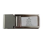 Metal money clip with Handle it BRANDON Keep calm