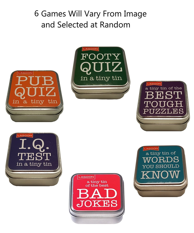 Tabletop Trivia Quizzes - Tabletop Fun In A Tiny Tin - Tabletop Trivia Quiz  Puzzles (6 Games)