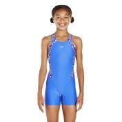 Speedo Girls Psychedelic Blast Printed Legsuit Swimsuit/Swimming Costume