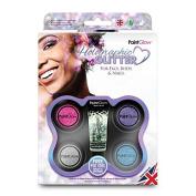 Holographic Cosmetic Glitter Shaker Boxset fix gel Festival Glitter PaintGlow