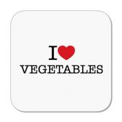 I Love Vegetables Coaster by MugBug