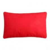 STC 2 Tone Rectangular Cushion – Red/Linen
