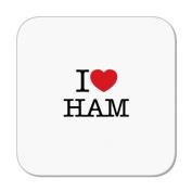 I Love Ham Coaster by MugBug