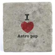 I Love Astro pop - Marble Tile Drink Coaster
