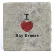 I Love Bay Breeze - Marble Tile Drink Coaster