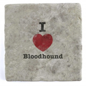 I Love Bloodhound - Marble Tile Drink Coaster