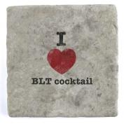I Love BLT cocktail - Marble Tile Drink Coaster