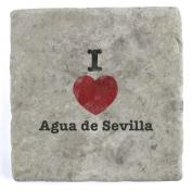 I Love Agua de Sevilla - Marble Tile Drink Coaster
