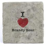 I Love Brandy Sour - Marble Tile Drink Coaster