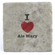 I Love Ale Mary - Marble Tile Drink Coaster