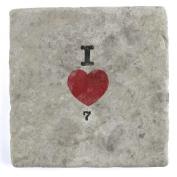 I Love 7 & 7 - Marble Tile Drink Coaster