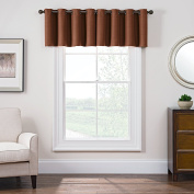 Keeco Domain Grommet Style Room Darkening Window Faux Satin, 130cm x 46cm , Rust, Valance 52 x 18