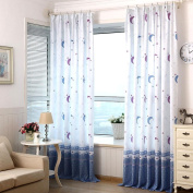 Blackout Curtains Bedroom Star And Moon Children Living Room Curtains,2PCs , blue , 100*270cm