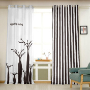 Window Curtain Digital Printed Curtains Bedroom Living Room Fabric Curtains , colour 4 , 140*270cm